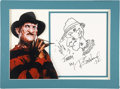 Movie/TV Memorabilia:Autographs and Signed Items, Robert Englund Signed Nightmare on Elm Street Sketch....