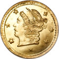 California Fractional Gold, 1868 25C Liberty Round 25 Cents, BG-806, R.3, MS67 PCGS....