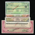Miscellaneous:Other, Midland Bank Limited Specimen Travelers Checks.. ... (Total: 5items)