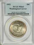 Commemorative Silver: , 1952 50C Washington-Carver MS63 PCGS. PCGS Population (363/2791). NGC Census: (182/2492). Mintage: 2,006,292. Numismedia Ws...