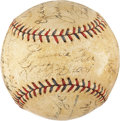 Autographs:Baseballs, 1933 Philadelphia Athletics Team Signed Baseball. ...