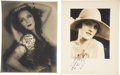 Movie/TV Memorabilia:Autographs and Signed Items, Mary Astor and Dolores Del Rio Signed Photos.... (Total: 2 Items)