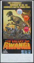 "Movie Posters:Science Fiction, The Valley of Gwangi (Warner Brothers, 1969). Three Sheet (41"" X 81""). Science Fiction.. ..."