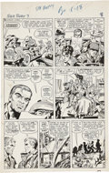 Original Comic Art:Panel Pages, Jack Kirby and George Roussos (as George Bell) Sgt. Fury #7page 6 Original Art (Marvel, 1964)....