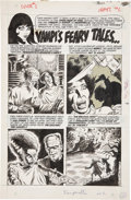 """Original Comic Art:Panel Pages, Tom Sutton Vampirella #2 Complete 1-page Story The First""""Vampi's Feary Tales"""" Original Art (Warren, 1969)...."""