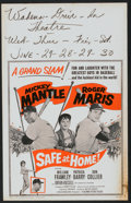 """Movie Posters:Sports, Safe at Home (Columbia, 1962). Window Card (14"""" X 22""""). Sports.. ..."""