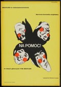"Movie Posters:Rock and Roll, Help! (United Artists, 1967). Polish One Sheet (23"" X 33""). Rockand Roll.. ..."