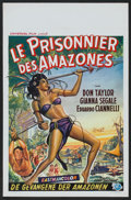 "Movie Posters:Adventure, Love Slaves of the Amazons (Universal International, 1957). Belgian(14"" X 22""). Adventure.. ..."