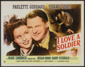"""Movie Posters:Drama, I Love a Soldier (Paramount, 1944). Half Sheet (22"""" X 28"""") Style A. Drama.. ..."""