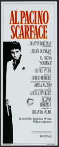 "Movie Posters:Crime, Scarface (Universal, 1983). Insert (14"" X 36""). Crime.. ..."