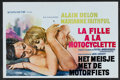 "Movie Posters:Romance, The Girl on a Motorcycle (Metropolitan, 1968). Belgian (14"" X 21"").Romance.. ..."