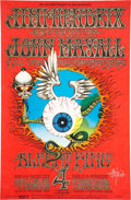 Music Memorabilia:Posters, Jimi Hendrix Experience Fillmore/Winterland Concert Poster BG-105First Printing, Signed by Rick Griffin (Bill Graham, 1968)....