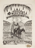 Music Memorabilia:Posters, Human Be-In Pow-Wow: A Gathering of the Tribes Event Poster Signed by Rick Griffin (1967). ...