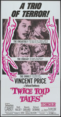 """Movie Posters:Horror, Twice Told Tales (United Artists, 1963). Three Sheet (41"""" X 81""""). Horror.. ..."""