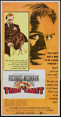 "Time Limit (United Artists, 1957). Three Sheet (41"" X 81""). Drama"