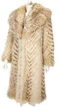 Movie/TV Memorabilia:Costumes, Edie Adams' Feather Dyed Raccoon Coat....