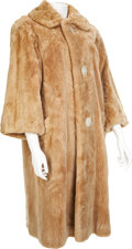 Movie/TV Memorabilia:Costumes, Edie Adams' Beige Dyed Beaver Coat....