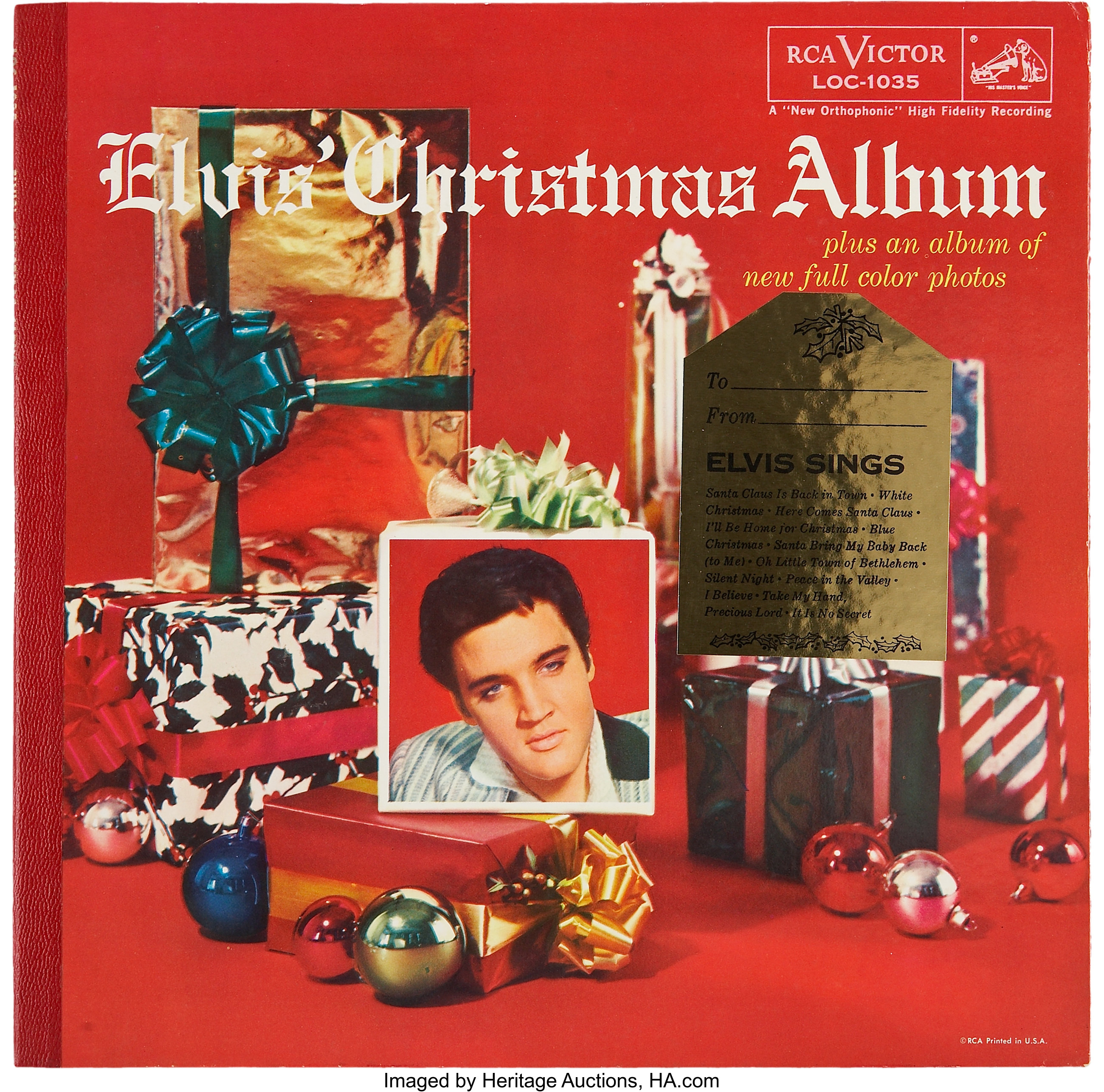 Christmas Album Cover Art.Elvis Christmas Album Lp Rca 1035 1957 Music