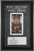 Music Memorabilia:Awards, Elvis Presley Related - J.D. Sumner's Ryman Gospel ReunionRIAA Platinum Video Award. ...