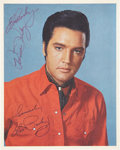 Music Memorabilia:Autographs and Signed Items, Elvis and Priscilla Presley Signed Photo....