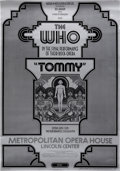 Music Memorabilia:Posters, The Who Tommy Metropolitan Opera House Concert Poster(Nathan Weis/Bill Graham, 1970)....