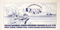 Music Memorabilia:Posters, The Kinks Gardens Auditorium Concert Poster (Medium Rare, 1970)....