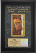 Music Memorabilia:Awards, Elvis Presley Related - J.D. Sumner's Reunion RIAA GoldVideo Award. ...