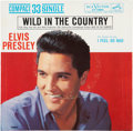 "Music Memorabilia:Recordings, Elvis Presley ""I Feel So Bad""/""Wild In the Country"" 33 CompactSingle (RCA 37-7880, 1961)...."