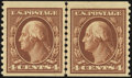 Stamps, 4c Brown, Horizontal Coil (446),...