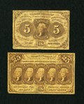 Fractional Currency:First Issue, Two First Issue Fractionals.. ... (Total: 2 notes)