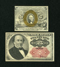 Fractional Currency:Fifth Issue, Two Fractionals.. ... (Total: 2 notes)