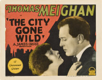 """The City Gone Wild (Paramount, 1927). Title Lobby Card and Lobby Card (11"""" X 14""""). Crime. ... (Total: 2 Items)"""