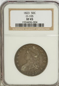 Bust Half Dollars, 1823 50C XF45 NGC. O-105. NGC Census: (58/480). PCGS Population(57/441). Mintage: 1,694,200. Numismedia Wsl. Price for NG...