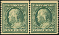 Stamps, 1c Green, Horizontal Coil (387),...