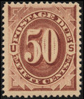 Stamps, 1884, 50c Red Brown (J21),...