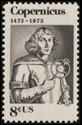 Stamps, 8c Copernicus, Orange Omitted, (1488a),...