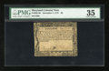 Colonial Notes:Maryland, Maryland December 7, 1775 $6 PMG Choice Very Fine 35....