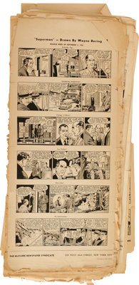 Superman Daily Comic Strip Proof Sheet Group of 65 (McClure Newspaper Syndicate, 1956-60).... (Total: 65 Items)