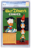 Golden Age (1938-1955):Cartoon Character, Walt Disney's Comics and Stories #150 File Copy (Dell, 1953) CGCVF+ 8.5 Off-white to white pages....