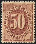 Stamps, 50¢ Red Brown (J21),...