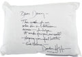 Movie/TV Memorabilia:Autographs and Signed Items, Dustin Hoffman Signed Pillow....