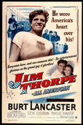 "Movie Posters:Sports, Jim Thorpe - All American (Warner Brothers, 1951). One Sheet (27"" X 41""). Sports.. ..."