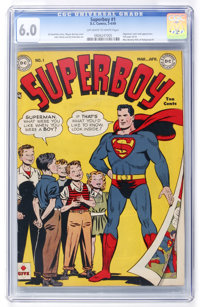 Superboy #1 (DC, 1949) CGC FN 6.0 Off-white to white pages