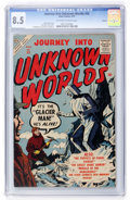 Golden Age (1938-1955):Horror, Journey Into Unknown Worlds #55 Circle 8 pedigree (Atlas, 1957) CGCVF+ 8.5 Off-white to white pages....