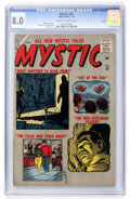Silver Age (1956-1969):Horror, Mystic #55 Circle 8 pedigree (Atlas, 1957) CGC VF 8.0 Cream tooff-white pages....