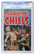 Golden Age (1938-1955):Horror, Chamber of Chills #22 File Copy (Harvey, 1954) CGC VF+ 8.5Off-white pages....