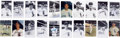 Autographs:Post Cards, Chicago Baseball Signed Photographs Lot Of 140....