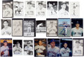 Autographs:Post Cards, Yankee, Giants, And Mets Signed Photographs Lot Of 105....