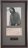 Music Memorabilia:Autographs and Signed Items, Beatles Related - Ringo Starr Signed Check....