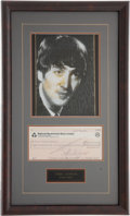 Music Memorabilia:Autographs and Signed Items, Beatles Related - John Lennon Signed Check....